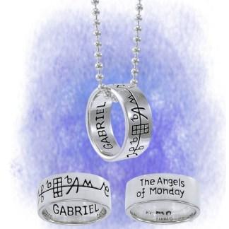 Anhänger Erzengel Gabriel aus 925-Silber mit Kette