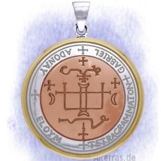 Anhänger Erzengel Gabriel aus 925-Silber vergoldet