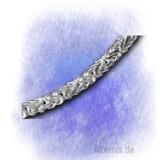 Kette Collier Königskette oval gedrückt