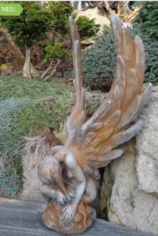 Engel Athene Rostoptik4 - Engel Athene Rostoptik aus Steinguss