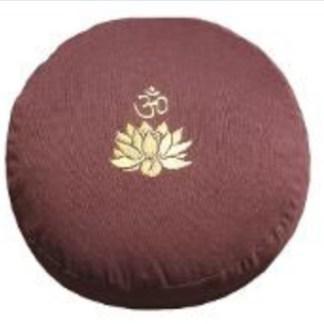 Meditationskissen Lotus Om braun