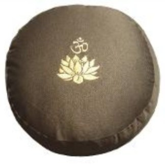 Meditationskissen Lotus Om olive