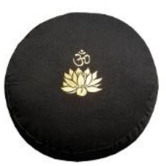 Meditationskissen Lotus Om schwarz
