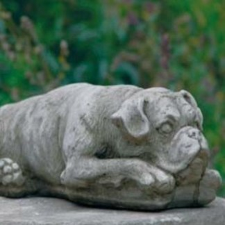 Hund Boxer liegend - Hund Boxer liegend