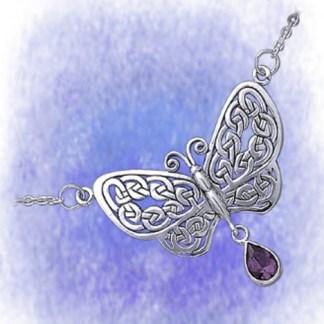 Collier Schmetterling aus 925-Silber mit Edelstein