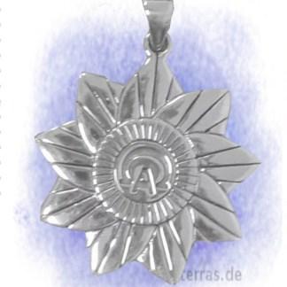 Anhänger Alpha und Omega teilvergoldet aus 925-Silber