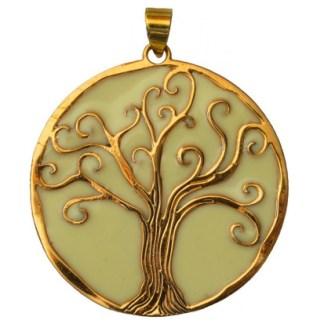 Anhänger Lebensbaum Bronze creme 45mm