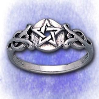 Ring Keltisch mit Pentagramm aus 925-Silber