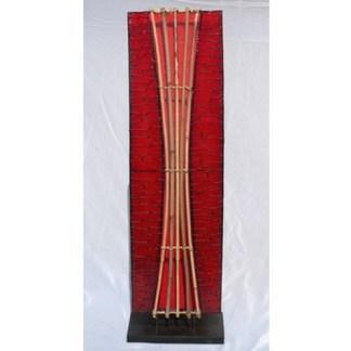 Lampen Und Leuchten Stehlampe Lampe Rot Mit Bambus