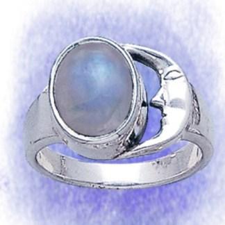 Ring Mondsteinmond aus 925-Silber