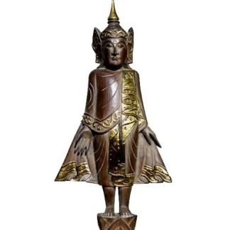 """Tempelwächter 75cm - Buddhistische Figur - """"Tempelwächter"""" Holz 75cm"""