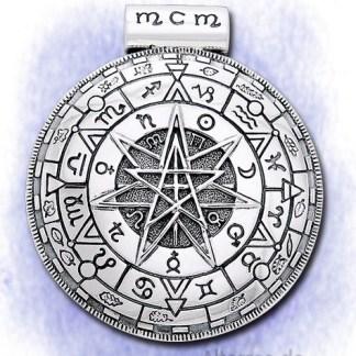 Anhänger Astrologisches Mandala aus 925-Silber