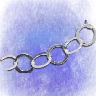Kette Ankerkette – flach gewalzt - 10mm aus 925-Silber