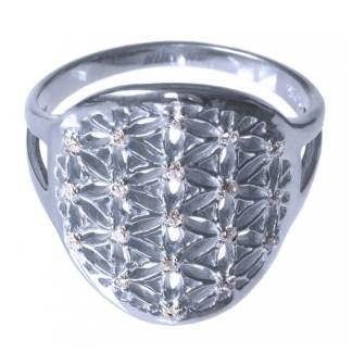 Ring Blume des Lebens aus 925 Silber 2cm