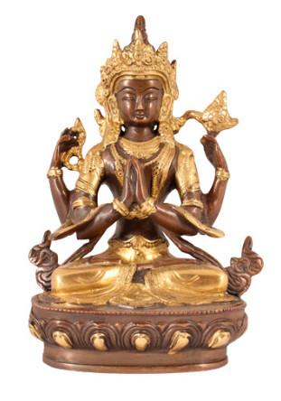 Avalokiteshvara 21cm antik-gold2