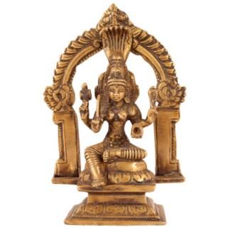 Durga sitzend 12 cm hell-antik