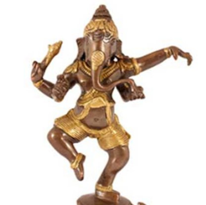 Ganesha tanzend 21cm antik gold - Ganesha tanzend 21cm antik-gold