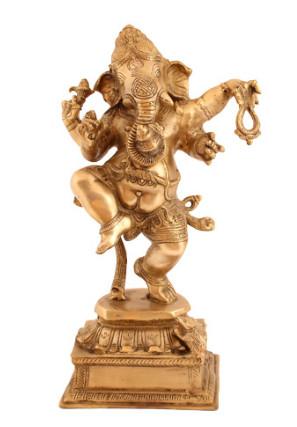 Ganesha tanzend 50cm hell-antik2