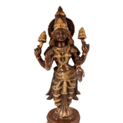 Lakshmi stehend fein 80cm - Lakshmi stehend fein 80cm antik-gold