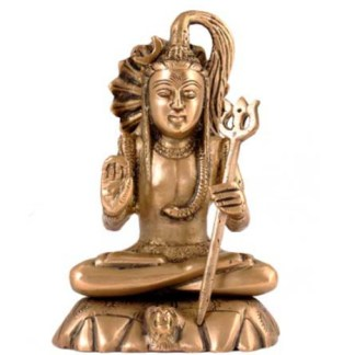 Shiva sitzend 15cm