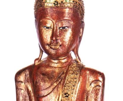 Buddha stehend aus Holz handgeschnitzt 119x39x19cm3 - Buddha stehend aus Holz handgeschnitzt 119x39x19cm