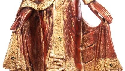 Buddha stehend aus Holz handgeschnitzt 119x39x19cm4 - Buddha stehend aus Holz handgeschnitzt 119x39x19cm