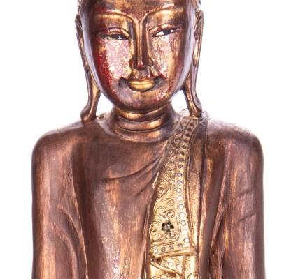 Buddha stehend aus Holz handgeschnitzt 120x40x19cm3 - Buddha stehend aus Holz handgeschnitzt 120x40x19cm