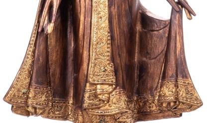 Buddha stehend aus Holz handgeschnitzt 120x40x19cm4 - Buddha stehend aus Holz handgeschnitzt 120x40x19cm