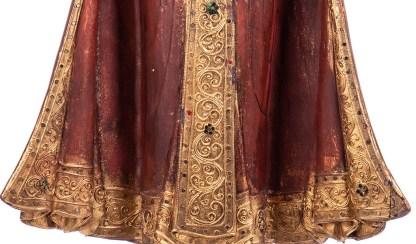 Buddha stehend aus Holz handgeschnitzt 120x40x20cm B 193 - Buddha stehend aus Holz handgeschnitzt 120x40x20cm B-19