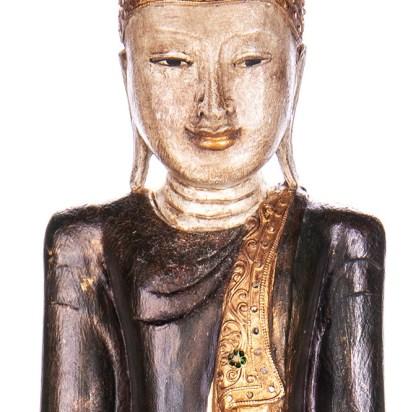Buddha stehend aus Holz handgeschnitzt 120x40x20cm B 23 - Buddha stehend aus Holz handgeschnitzt 120x40x20cm B-2