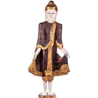 Buddha stehend aus Holz handgeschnitzt 120x40x20cm B-3