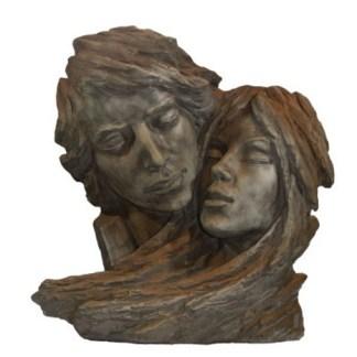 Figur Gesichterpaar Rosteffekt