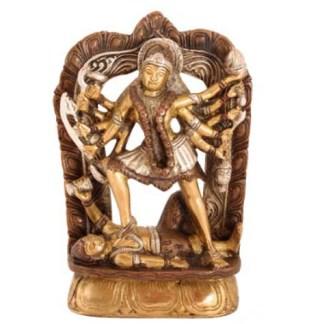 Kali stehend 18cm kupfer-silber-gold