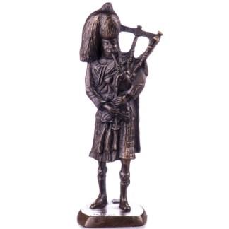 "Bronze Figur Schotte mit Dudelsack 20cm - Bronze Figur ""Schotte - mit Dudelsack"" 20cm"