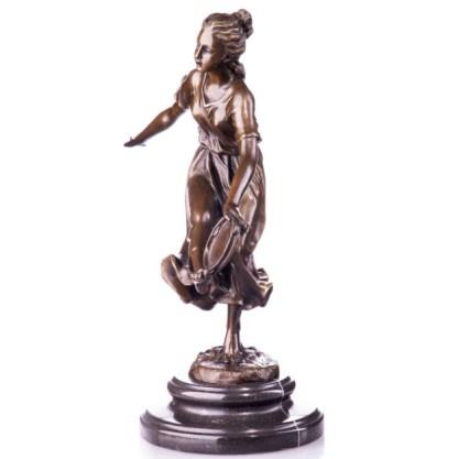 Bronze Figur Tänzerin mit Tamburin 31cm2