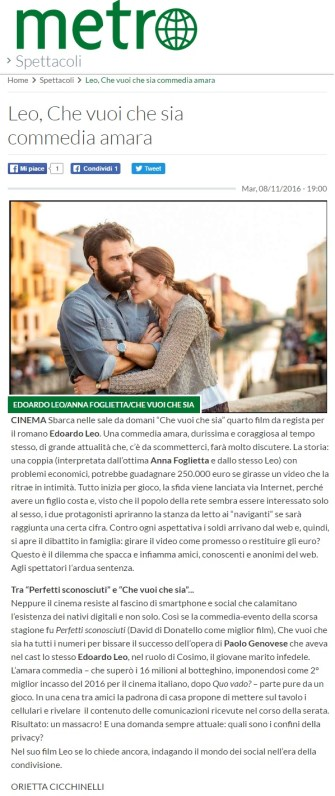 www.metronews.it Martedì 08 11 2016