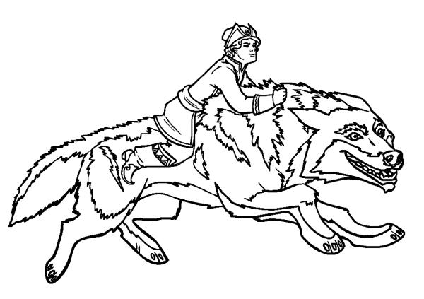 иван царевич и серый волк рисовать карандашом