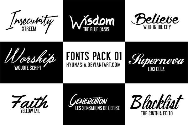 Download Fonts Pack 02 by hyunasia on DeviantArt