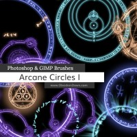 Its Magic - Arcane Circles-Symbols Photoshop and GIMP Brushes