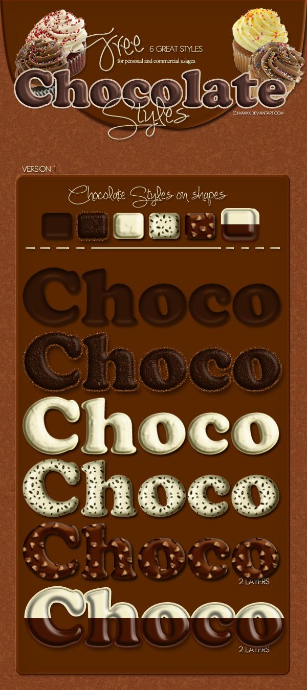 Chocolate Photoshop Styles
