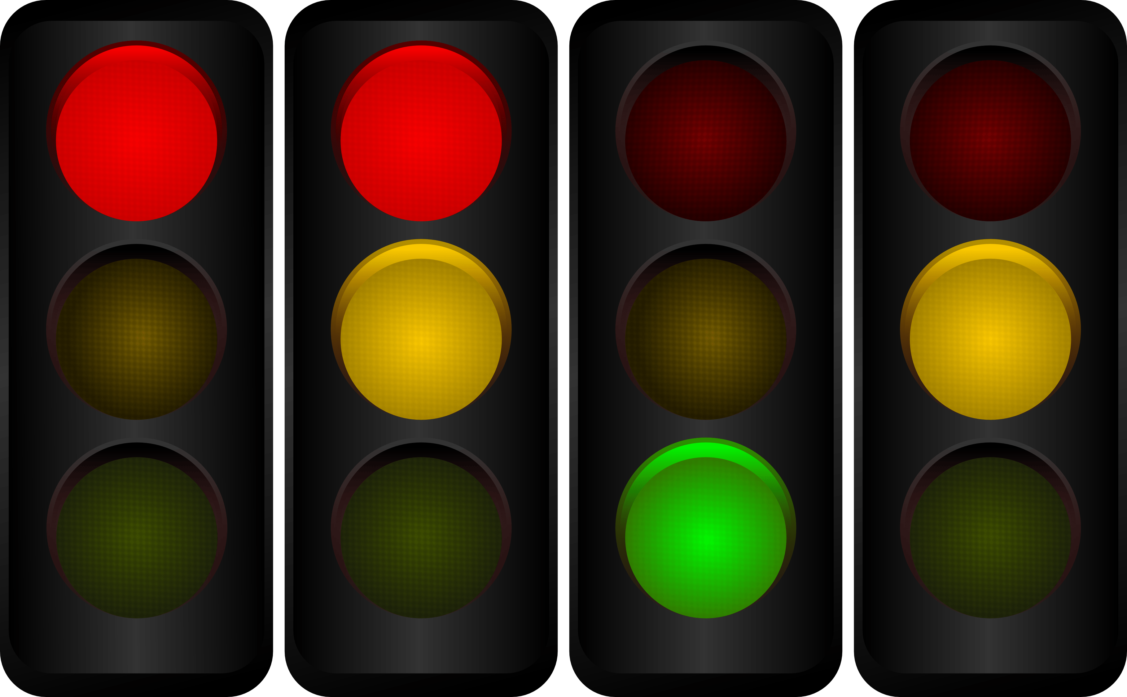 Vector Traffic Lights By Pomprint On Deviantart