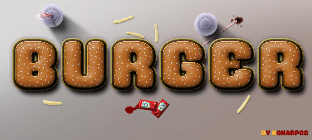 Burger Photoshop style