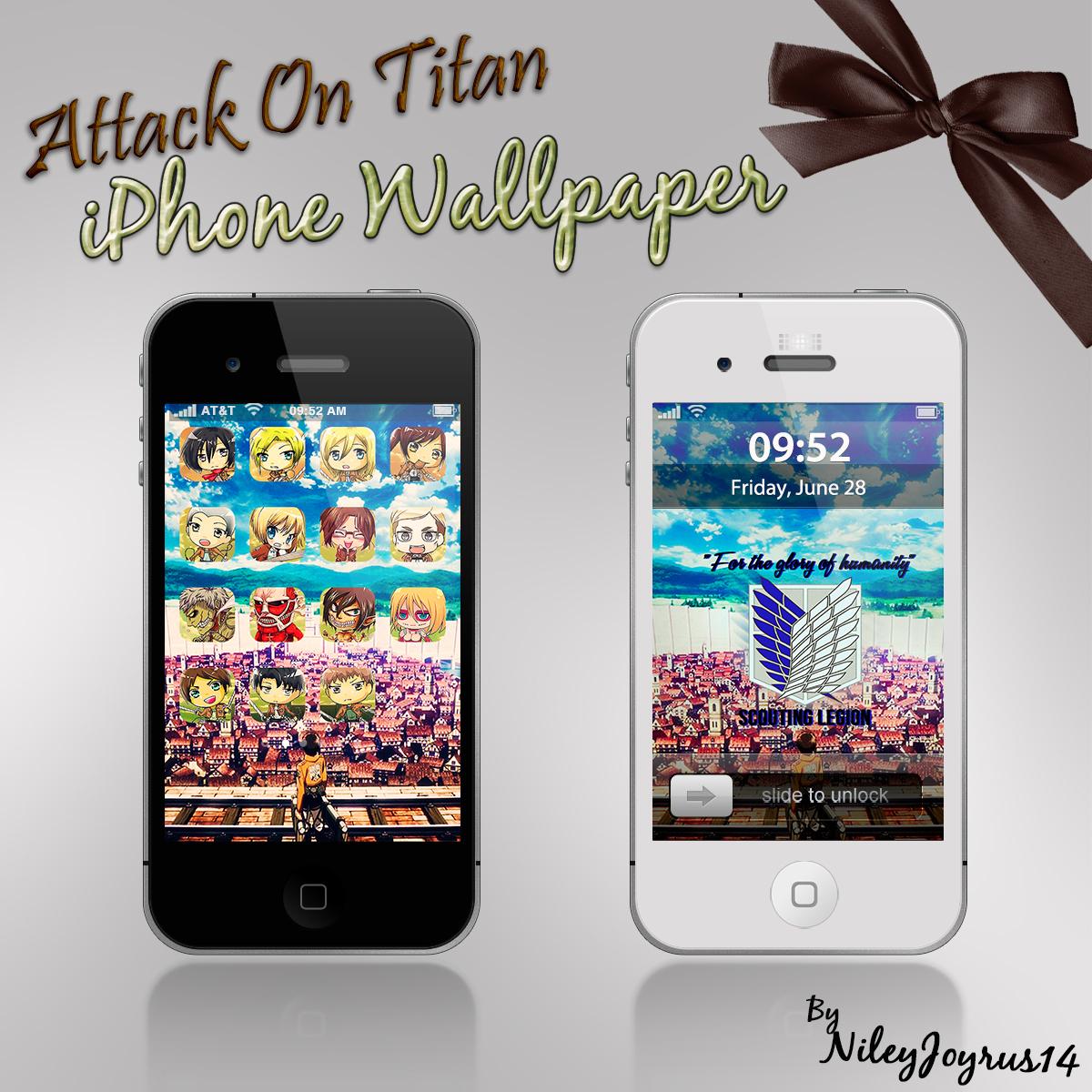 Demon slayer kimetsu no yaiba phone wallpapers wallpaper cave. iPhone Wallpaper - Attack On Titan 01 by NileyJoyrus14 on ...