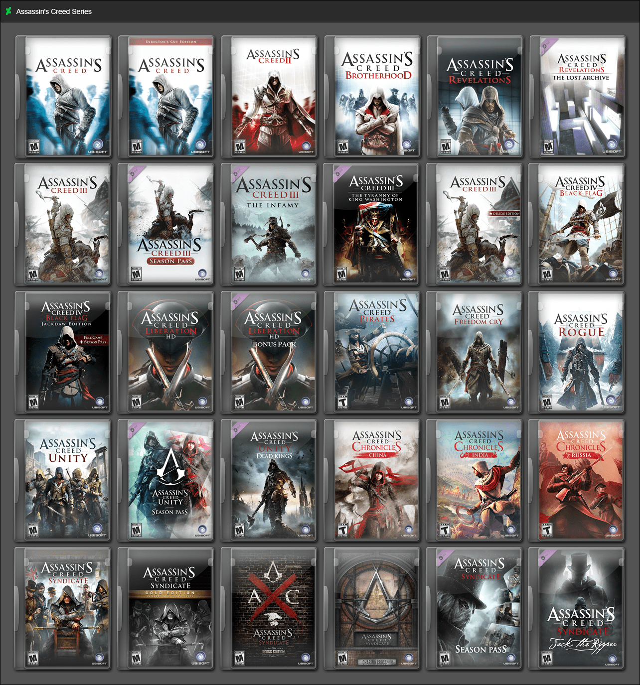 Assassins Creed Series By GameBoxIcons On DeviantArt