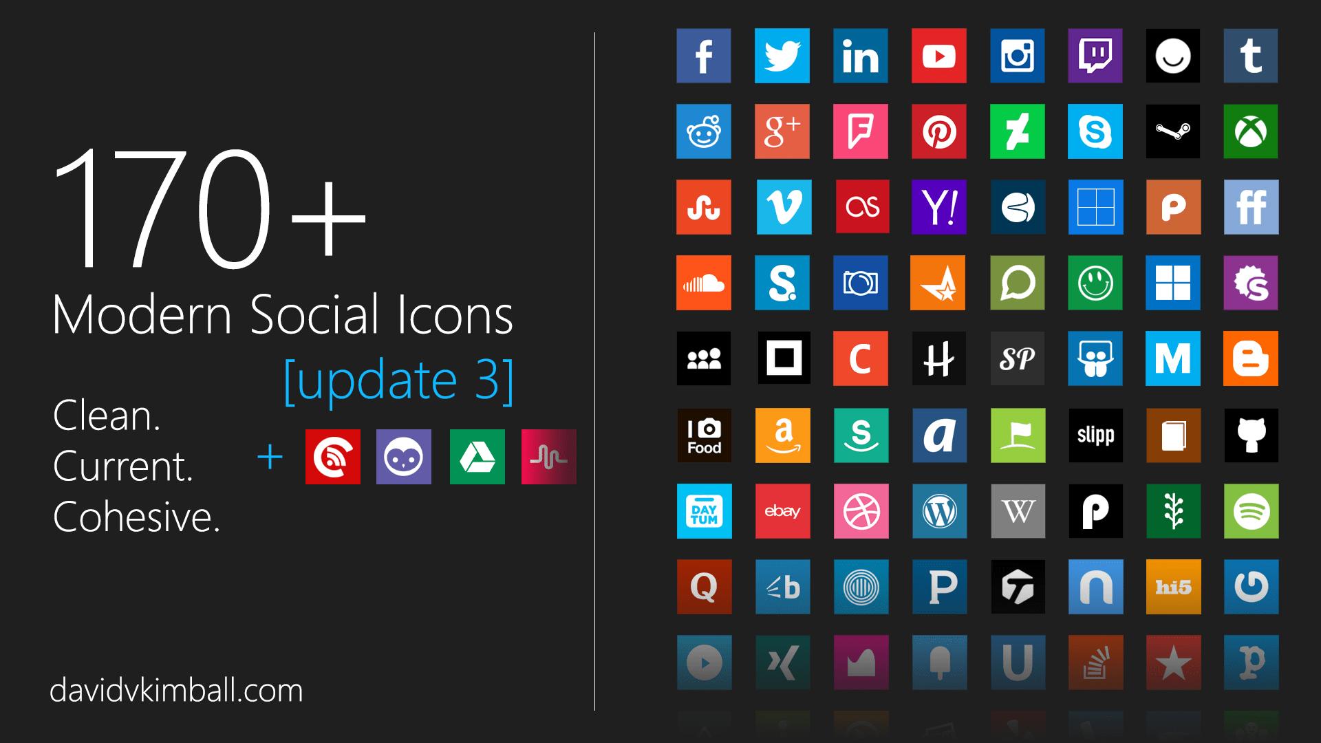 Modern Social Media Icons By Davidvkimball On DeviantArt
