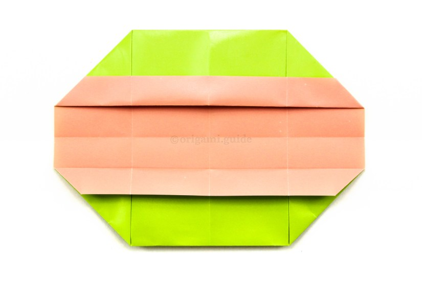 17. Now it's time to finish the rectangular origami box.