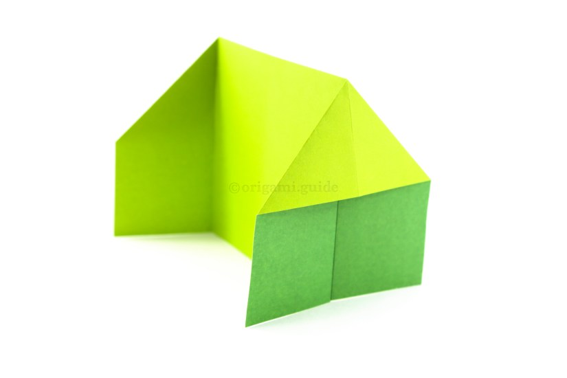 11. You have just completed the easy origami house!