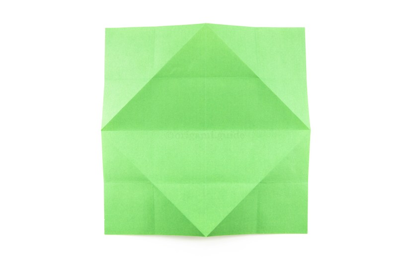 16. Flip the paper back over to the other side.