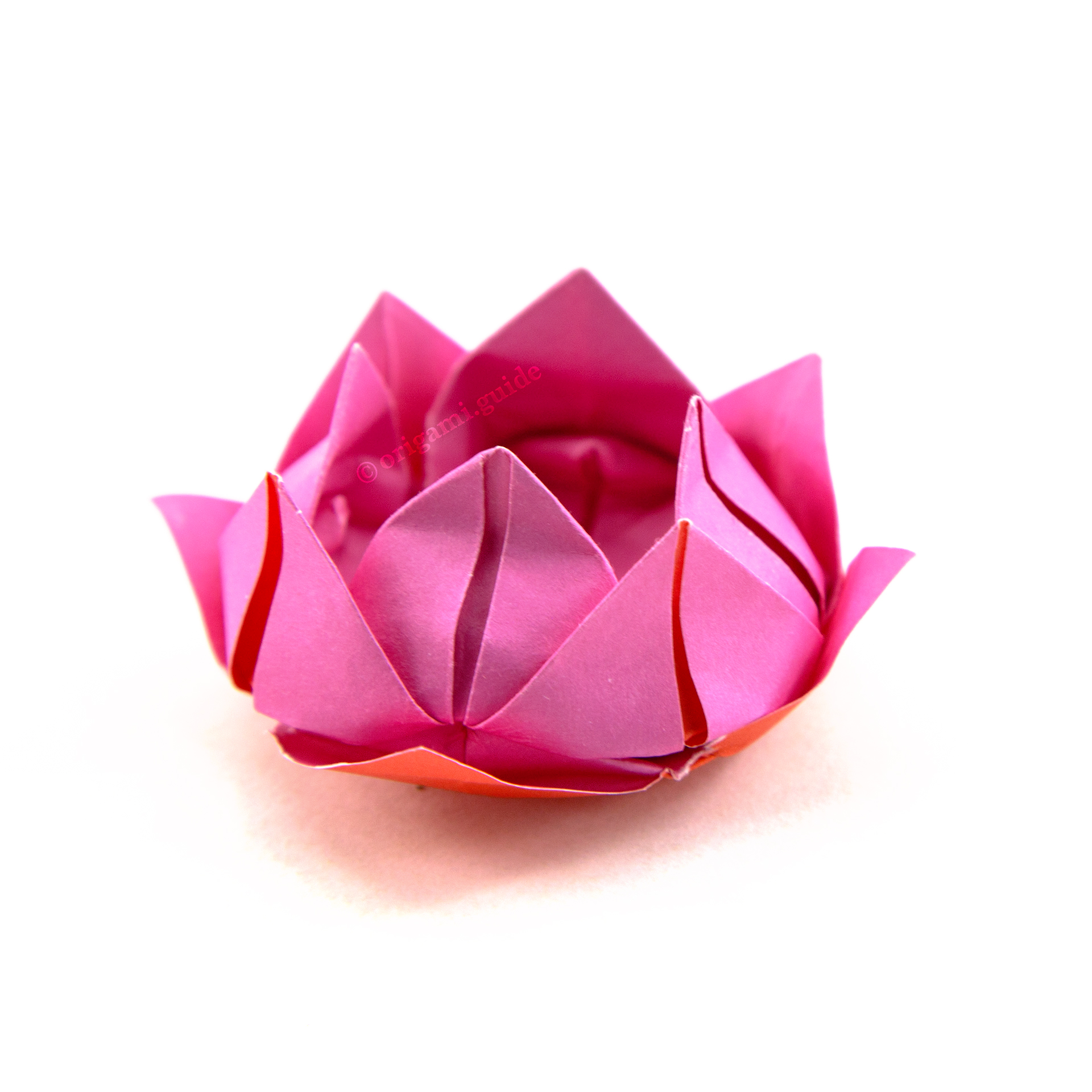 How To Make An Origami Lotus Flower - Folding Instructions