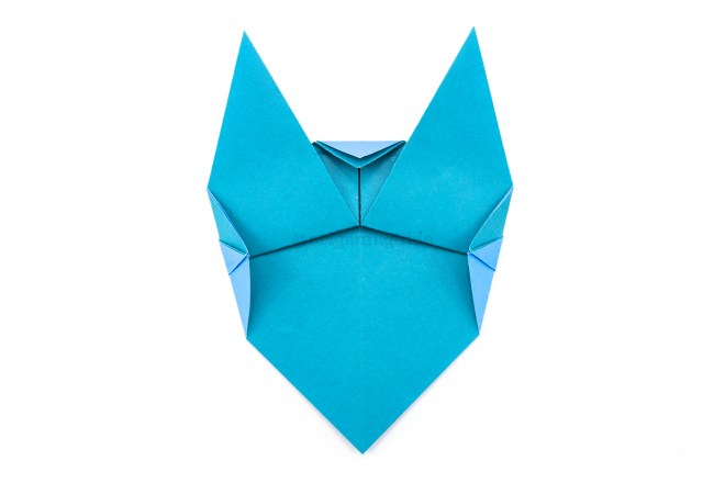 10. Fold the top and both sides inwards to round out the shape.